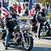 Members of the Patriot Guard join the 31st Annual Veteran's Day Parade on Saturday morning in downtown Joplin.<br /> Globe | Laurie Sisk