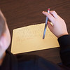 Hudson Dally works on an assignment on Monday at Fairview Elementary in Carthage.<br /> Globe | Roger Nomer