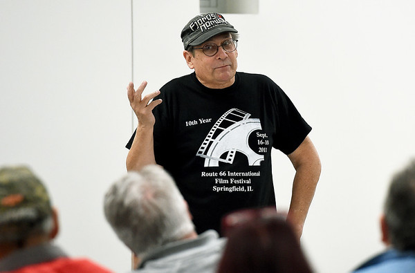 "Documentary filmmaker and author William Matson discusses how he got involved in documenting the history of the Crazy Horse Family during a special presentation and book signing for  ""Crazy Horse: The Lakota Warrior's Life and Legacy"" on Wednesday night at the Joplin Public Library.<br /> Globe 