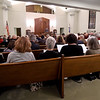 A packed house, including guests from throughout the Joplin worship community, gather Friday night at the United Hebrew Congregation to remember those murdered at Pittsburgh's Tree of Life Synagogue last weekend.<br /> Globe | Laurie Sisk