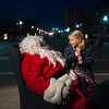 Halle Yeager, 6, Carterville, tells Santa what she wants for Christmas on Monday in downtown Joplin.<br /> Globe | Roger Nomer
