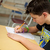 Michael Woodward, seventh grader at Sarcoxie Middle School, works during academic lab at Sarcoxie Middle School on Friday.<br /> Globe | Roger Nomer