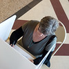 Merlen White votes at The Civic on Tuesday in Neosho.<br /> Globe | Roger Nomer