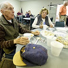 From the left: Eddie McKay and Gayle McAllister enjoy the fare at the Joplin Association for the Blind Chili and Soup Feed on Thursday at JAB. The annual event is a major fundraiser for the organization and included a silent auction, a 50/50 drawing and free glaucoma screenings.<br /> Globe | Laurie Sisk