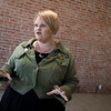 Becki Arnall, founder of the Dream Theatre Co., talks about her plans for a black box theater in downtown Joplin on Friday.<br /> Globe   Roger Nomer