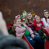 (from left) Averie, 11, Morgan, 13, Vanna, 3, and Presley, 9, McKeehan, of Galena, pose for a holiday photo in downtown Joplin on Monday.<br /> Globe | Roger Nomer