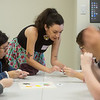 """Sydne Gray demonstrates a beading technique during a workshop at """"The Whole Story:  A Decolonial Cross-Cultural Day Institute and Scholarship Fundraiser"""" on Thursday at Missouri Southern.<br /> Globe 