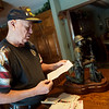 On Thursday, Ron Mosbaugh reads a letter he wrote home from Vietnam during his time with Admiral Nimitz.<br /> Globe | Roger Nomer
