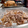 Meat pulled from one of 32 roasted turkeys lay ready for Thanksgiving on Thursday night as Missouri Southern Zeta Tau Alpha sisters help prepare turkey meat on Thursday night for the Salvation Army's annual Thanksgiving dinner. <br /> Globe | Laurie SIsk