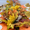 A festive centerpiece sits on the dessert table during the annual Salvation Army Thanksgiving dinner on Thursday.<br /> Globe | Laurie Sisk