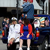 Members of the Dream Theatre Co. highlight the service of women during the The 32nd Annual Community Veterans Day Parade on Saturday in downtown Joplin.<br /> Globe | Laurie SIsk