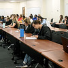 Missouri Southern biology professor Victoria Rhoades leads a large class of students on Wednesday in Reynolds Hall.<br /> Globe | Laurie Sisk