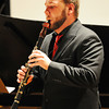 "Preston Besett plays ""Introduction, Theme and Variations"" by Rossini on the clarinet during the Wednesday evening, Oct. 2, 2013, musical event for MSSU's Italy semester at Webster Hall's Corely Auditorium.<br /> Globe 