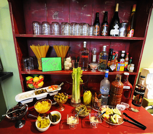 The bloody Mary bar at Club 1201, located at 1201 E. 32nd St., Joplin.<br /> Globe | T. Rob Brown