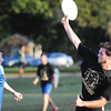 """Ozark Christian College students Micah Funderburgh (right), who plays for the Too-Ya-La-Kekt (or """"Thunder Arriving on the Plain"""") team attempts to pass the disc to a teammate as opponent Ethan Humphrey of the Wolf-Pack plays defense during the semi-final intramural game of Ultimate Thursday evening, Oct. 3, 2013, at OCC. The Wolf-Pack ended up winning the game and will play in the championship at 6 p.m. Monday, Oct. 14. Ultimate is a game with similarities to soccer but uses a disc instead of a ball.<br /> Globe   T. Rob Brown"""