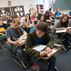 Globe/Roger Nomer<br /> Students participate in an Algebra 2 class on Monday at East Newton High School.