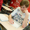 Globe/Roger Nomer<br /> Calvin Francisco, East Newton senior, participates in an AP Literature class on Monday at East Newton High School.