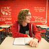 Globe/Roger Nomer<br /> William Styron, East Newton senior, participates in an AP Literature class on Monday at East Newton High School.
