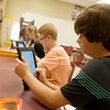Globe/Roger Nomer<br /> Benjamin Koelkebeck, eighth grade, works with technology on Tuesday at South Middle School.