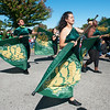 Members of the Missouri Southern drill team entertain the crowd during the Missouri Southern Homecoming Parade on Saturday at MSSU.<br /> Globe | Laurie Sisk
