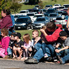 Spectators await the start of the Missouri Southern Homecoming Parade on Saturday at MSSU.<br /> Globe | Laurie Sisk