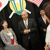 Globe/Roger Nomer<br /> Ambassador Kenichiro Sasae and his wife Nobuko talk with Japanese Missouri Southern students on Thursday during a visit to the university.