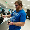 Globe/Roger Nomer<br /> Jeremy Mayo, Joplin, checks out on Wednesday at the Joplin Public Library.