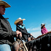 Globe/Roger Nomer<br /> Annie Chance, center, watches international riders train at her ranch in Joplin on Wednesday.