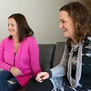 Globe/Roger Nomer<br /> Bethany, left, and Amy Schroer talk about their recovery from breast cancer.