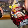 Globe/Roger Nomer<br /> Barrett Braker, 3 months, gets some rest before Saturday's Maple Leaf Baby Pageant at the Carthage R-9 Auditorium.