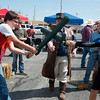 Globe/Roger Nomer<br /> G. Dyer, 12, Seneca, left, and Trever French, 12, Carl Junction, square off for a sword fight on Sunday during Central Christian Church's annual Western Roundup.