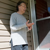 Globe/Roger Nomer<br /> Cathy Wilkinson talks about her experience after the Neosho flooding during an interview on Wednesday.