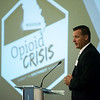 Globe/Roger Nomer<br /> Douglas Dorley, special agent with the Drug Enforcement Administration, talks during Tuesday's Opioid Crisis Summit in Southwest Missouri at Missouri Southern.