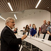 Globe/Roger Nomer<br /> Ronnie B. Martin, interim dean at Kansas City University of Medicine and Biosciences Joplin, talks with visitors on Friday during a tour of the facility.