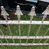 Globe/Roger Nomer<br /> Antique fencing from Fairview Cemetery will be up for auction in the city auction.