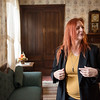 Globe/Roger Nomer<br /> Lisa Livingston-Martin gives a tour of the Kendrick House on Monday in Carthage.