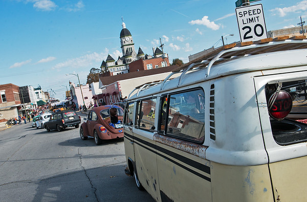 Globe/Roger Nomer<br /> Volkswagens with the Foul Air VW Klub start on the parade route during Saturday's Maple Leaf Parade in Carthage.