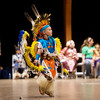Globe/Roger Nomer<br /> Hathan Mouse, 4, Quapaw, demonstrates a dance on Monday at Downstream Casino.
