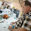 Globe/Roger Nomer<br /> Raymond Kirk fills a prescription on Thursday at the Noel Pharmacy.