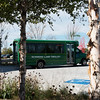 Globe/Roger Nomer<br /> The Sunshine Lamp Trolley makes a stop at the Joplin Public Library on Wednesday.