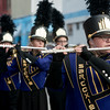 Globe/Roger Nomer<br /> Members of the Sarcoxie High School band march in Saturday's Maple Leaf Parade in Carthage.