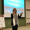 Globe/Jordan Larimore<br /> Gail Melgren, the executive director of the Coalition, speaks at the Tri-State Water Resource Coalition's annual water conference in Springfield.