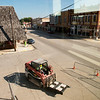 Construction continues on the Decades of Wheels museum in downtown Baxter Springs on Tuesday.<br /> Globe | Roger Nomer