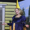 """Jinx Jenkins (played by Susie Lundy) returns from a Renaissance Festival in full regalia during rehearsal for the upcoming Stone's Throw Dinner Theatre production of """"The Savannah Sipping Society,"""" which opens Friday at the Stone's Throw Dinner Theatre.<br /> Globe 