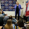 Sen. Claire McCaskill talks with supporters during a campaign stop in Joplin on Wednesday.<br /> Globe | Roger Nomer