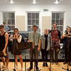 The Cast and Band rehearsing for The Picher Project's concert at Feinstein's/54 Below on Wednesday. (Angelica Gorga)