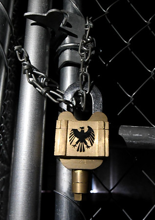 """A mysterious """"Eagle Lock"""" stands as a key cog in the Escape: Zombie City experience in downtown Joplin. Globe 