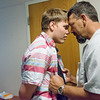 Michael Millman Sr. has a reunion with his son Michael Millman Jr., also known as Little Michael, during a visit to Heartspring in Wichita, Kan. on June 8.<br /> Globe | Roger Nomer