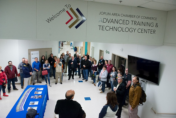 Visitors tour the Advanced Training and Technology Center on Friday during the annual economic development tour. <br /> Globe | Roger Nomer