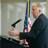 Gov. Mike Parson talks about Prop D during a visit to Missouri Southern on Wednesday.<br /> Globe | Roger Nomer
